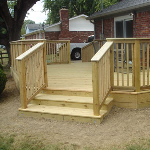 Decks with Handrails